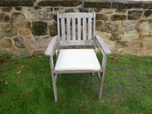 UK-Gardens Wooden Garden Dining Chair Armchair 2 Colours With Without Cushions