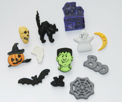 Ghosts Haunted House Haunted House Buttons Buttons Galore # 4518 Cat