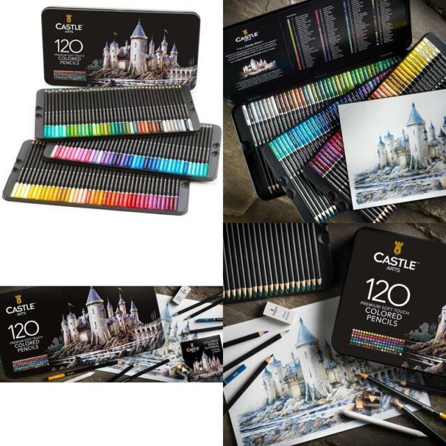 Castle Art Supplies 120 Colored Pencil Set for artists ...