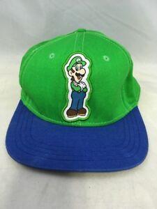 12bfa6e65 Luigi Super Mario Brothers Green Baseball Cap One Size Hat Nintendo ...