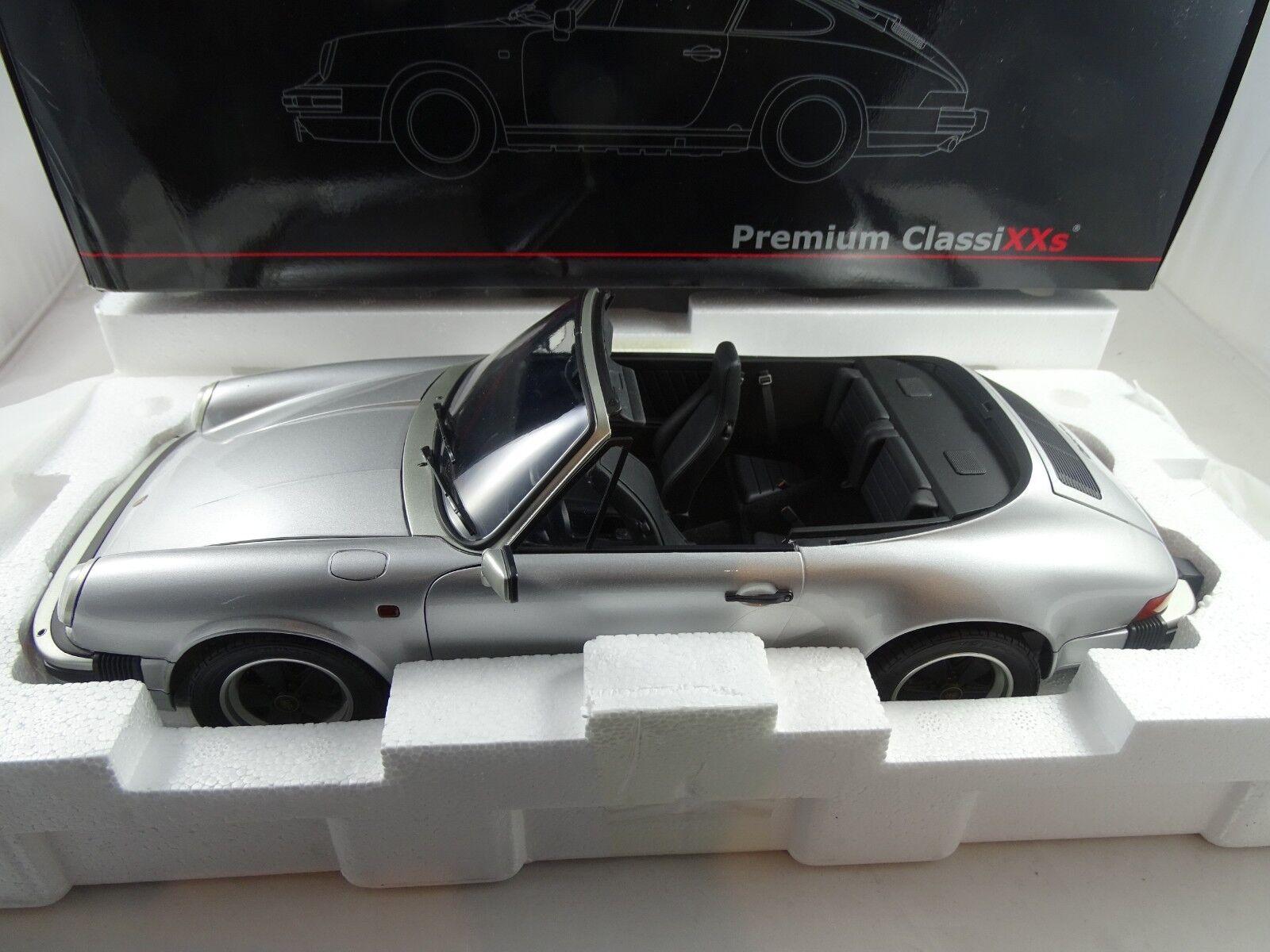 1 12 Premium Classixxs Porsche 911 3.2 Cabrio Limitado Edición Plata