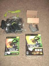 Real World Golf (Microsoft Xbox, 2006) Game + Controller TRAK Attachment - NEW!