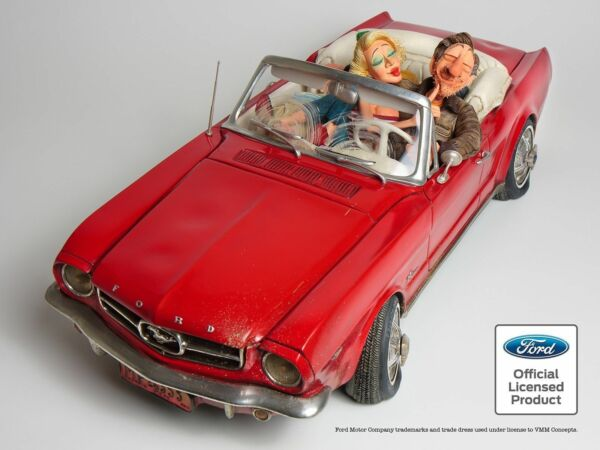 2019 Neuestes Design Guillermo Forchino Comic '65 Ford Mustang 100% Auto Kollektion Figur Skulptur