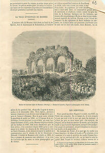 Ruins-The-Church-of-Hammer-in-Norway-Eglise-de-Norvege-GRAVURE-OLD-PRINT-1865