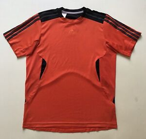 BNWT LOVELY MENS BLACK ADIDAS T SHIRT WITH ORANGE//BLACK ADIDAS LOGO SIZE LARGE