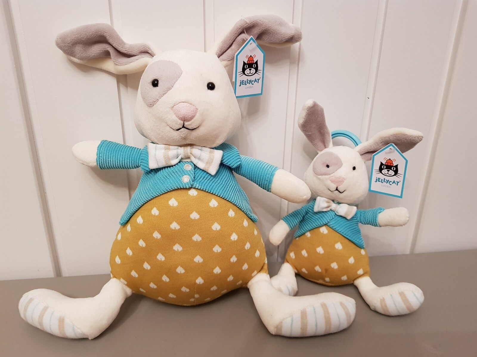 Jellycat Large Lewis Rabbit & Lewis Rabbit Jitter BNWT