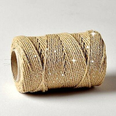 Bakers Twine Gold Sparkle Shimmering Luxury Gift Wrap String 100m Wedding Xmas