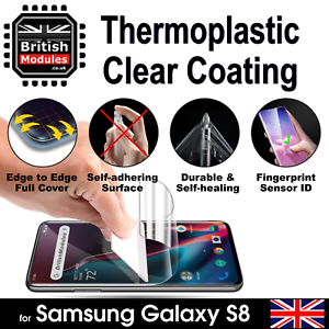 SAMSUNG-S8-3D-auto-guarigione-termoplastico-Chiaro-Gel-Morbido-con-Pellicola-Proteggi-Schermo