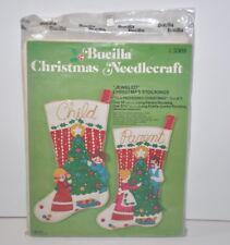 Christmas Stockings Kits.Bucilla Old Fashioned Christmas Felt Jeweled Pair Of Stockings Kit B2