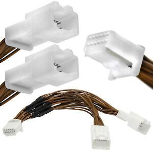 Y-Adapter-Kabel-Verteiler-6-6-Pin-Auto-Radio-CD-MP3-Wechsler-Car-Kit-fuer-Toyota