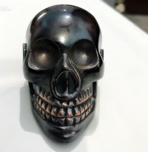 Antique-Style-Solid-Brass-Skull-Men-Head-Handle-For-Walking-Shaft-Stick-Canes