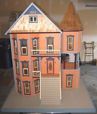 WOOD DOLL HOUSE - Custom Built - With Electricity - Buy for Charity & Raffle It!