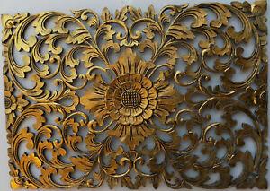 Pannello-floreale-in-legno-mdf-traforato-a-mano-cm-50x72-oro-quadro-dipinto