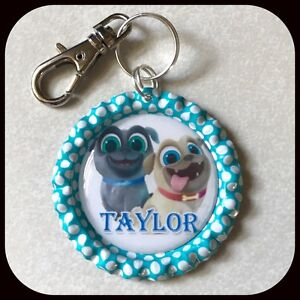 Personalized Puppy Dog Pals Bottle Cap Pendant Name Necklace Jewelry