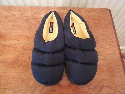 Mens Heat Keep Puffer Slippers 129919 Black Navy Blue 16m New Men S Slippers