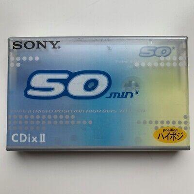 Type II cassette tape Japan domestic market SONY CDix II 50