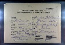 POW Camp 154 Sorgues France 1947 German Prisoner War Kriegsgefangenenpost 90
