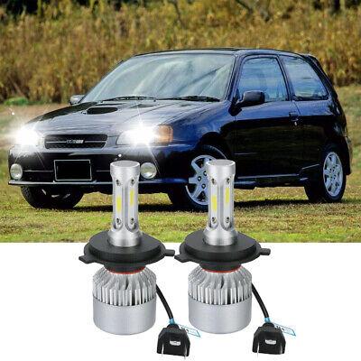 FITS TOYOTA STARLET 1996-1999 Headlight LED Kit set 2x H4 Bulbs PURE WHITE+501