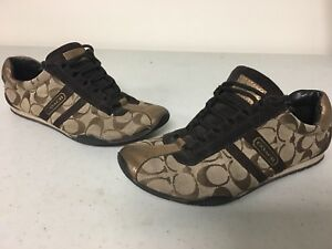 4c4ef4e14 Image is loading Women-s-Coach-Remonna-Signature-Sneaker-Shoes-Brown-