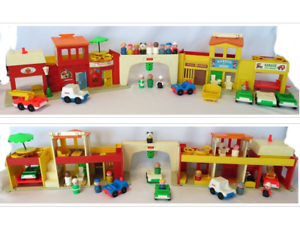 1973 77 Vintage Fisher Price Play Family Village Playset 997 Near Complete Ebay