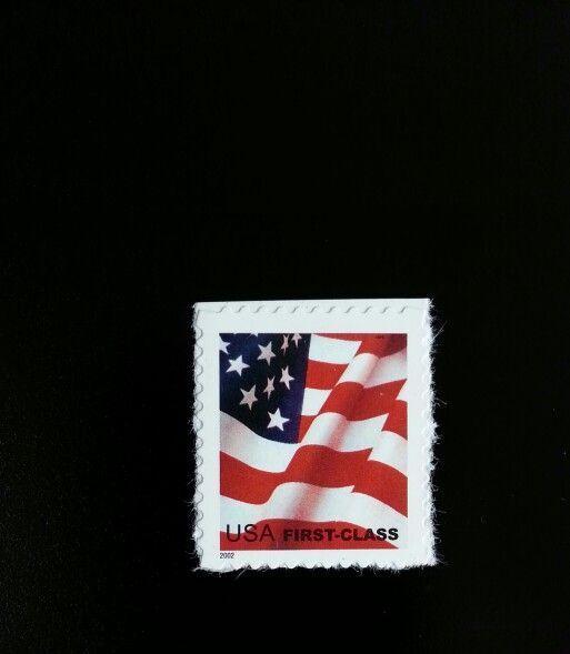 2002 37c American Flag, Single from Pane of 20 Scott 36