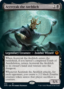 Acererak the Archlich - Extended Art x1 Magic the Gathering 1x Adventures in the