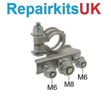 RENAULT 12 VOLT POSITIVE BATTERY TERMINAL CLAMP WITH 3 BOLT ON