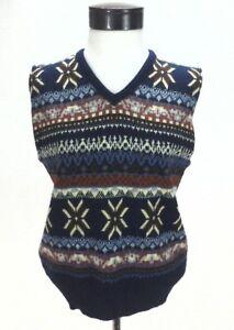 ESPRIT-by-CAMPUS-Sweater-Vest-Retro-Vintage-80-039-s-Shirt-Top-Multi-USA-Women-039-s-M