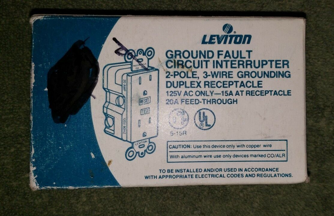 Leviton 6599 I Ground Fault Circuit Interrupter Ivory 15a 125vac Ebay Wiring Of Receptacles Also With Stock Photo