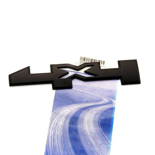 2pcs OEM 4 X 4 Door Emblem Badge 4x4 Nameplate 3D GM Silverado Sierra Y Black