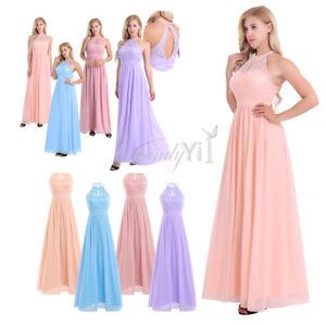 Women-Hot-Halter-Chiffon-Gown-Prom-Bridesmaid-Wedding-Dress-Evening-Formal-Party