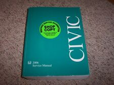 2006 Honda Civic Service Shop Repair Manual Coupe Sedan 1.8L 2.0L 4 Cyl