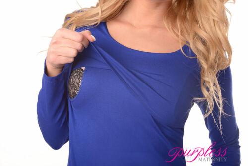 Maternity /& Nursing Scoop Neck Tunic Breastfeeding Size 8 10 12 14 16 18 7021