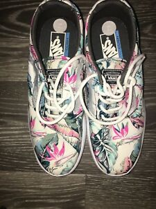 New Vans Hawai Floral White Ultracush Womens Shoes Trainers Uk 4 5 Lace Up Ebay