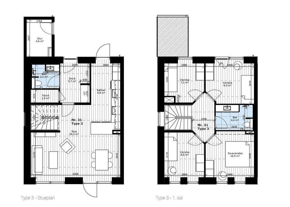 2620 vær. 5 lejlighed, m2 124, Lækrogen