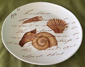 Image is loading Ceramisia-Italy-Large-Round-Charger-Platter-SEASHELLS-13- & Ceramisia Italy Large Round Charger/Platter SEASHELLS 13-3/8 ...