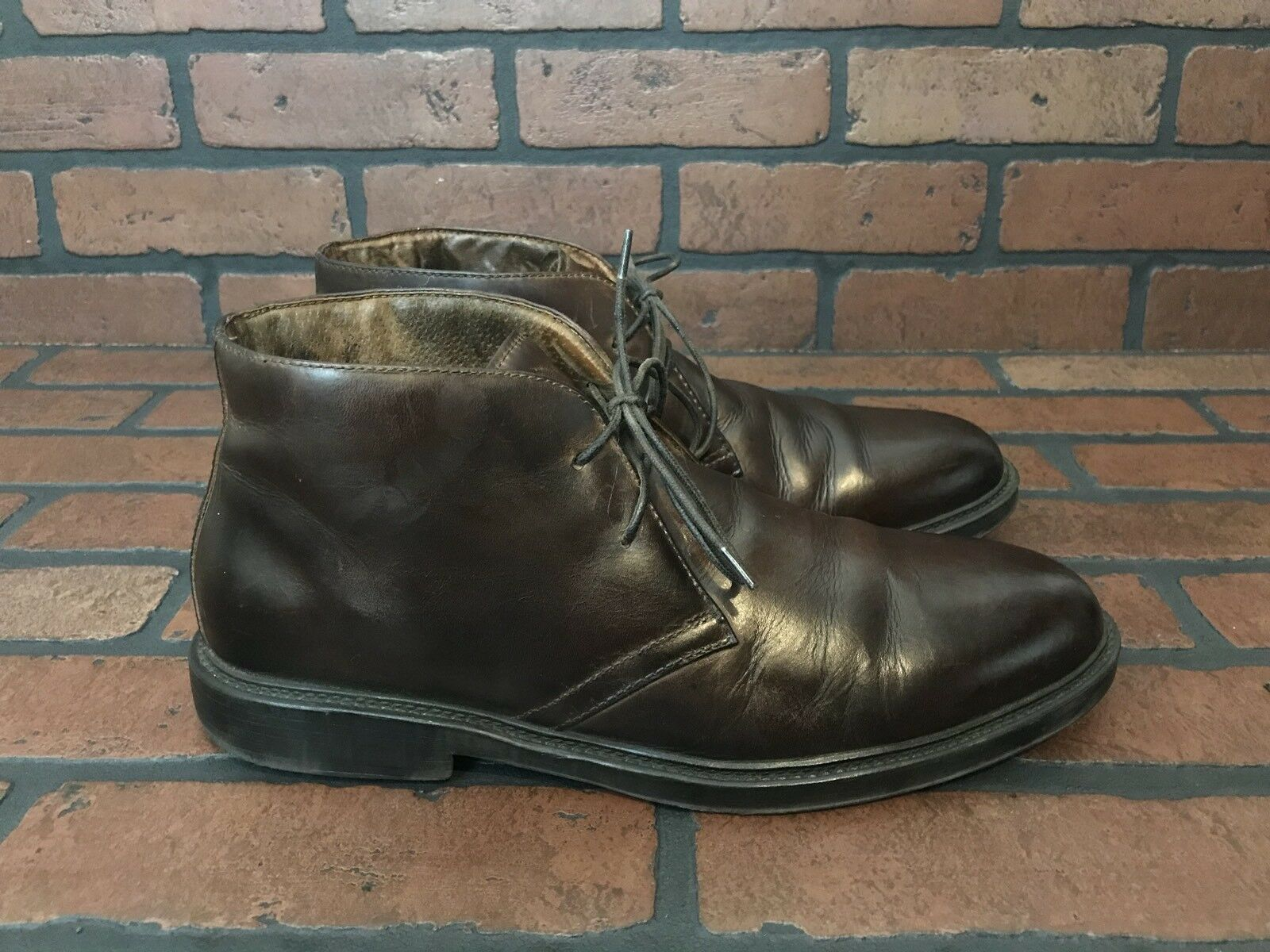 Florsheim Chukka Boots Brown Leather Handmade Size 10
