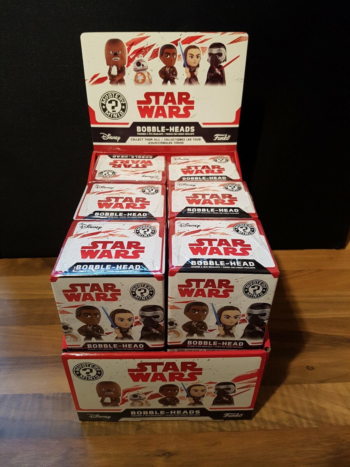 Full Case Of 12 Funko Mystery Minis Vinyl Figures Star Wars chance of chase ones