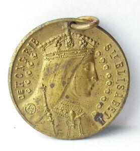 Medaglia-Santa-Elisabetta-Della-Turingia-Ungheria-c1920-a-J-Corbierre-22mm-Medal