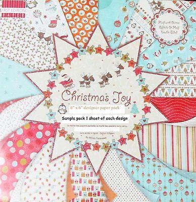 DOVECRAFT CHRISTMAS JOY 6 X 6 SAMPLE PACK 16 SHEETS - PLEASE READ DESCRIPTION