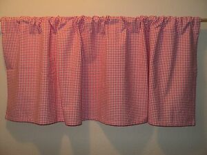 Pottery Barn Kids Bright Hot Pink Gingham 50 X 18 Rod