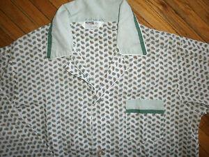 Original Vintage Montgomery Ward Pyjama Ensemble Tenue Pantalon Chemise Mod Années 60 Pour Convenir à La Commodité Des Gens