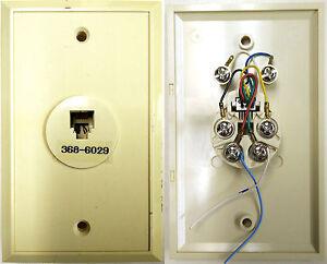 Pleasing 6 Pin Rj12 Rj25 Modular Wall Jack Plate 6P6C Round Flat Wire Telco Wiring Cloud Pendufoxcilixyz