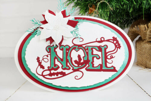 D1412 FREE UK P/&P Tattered Lace VINTAGE NOEL Christmas Craft Cutting Die