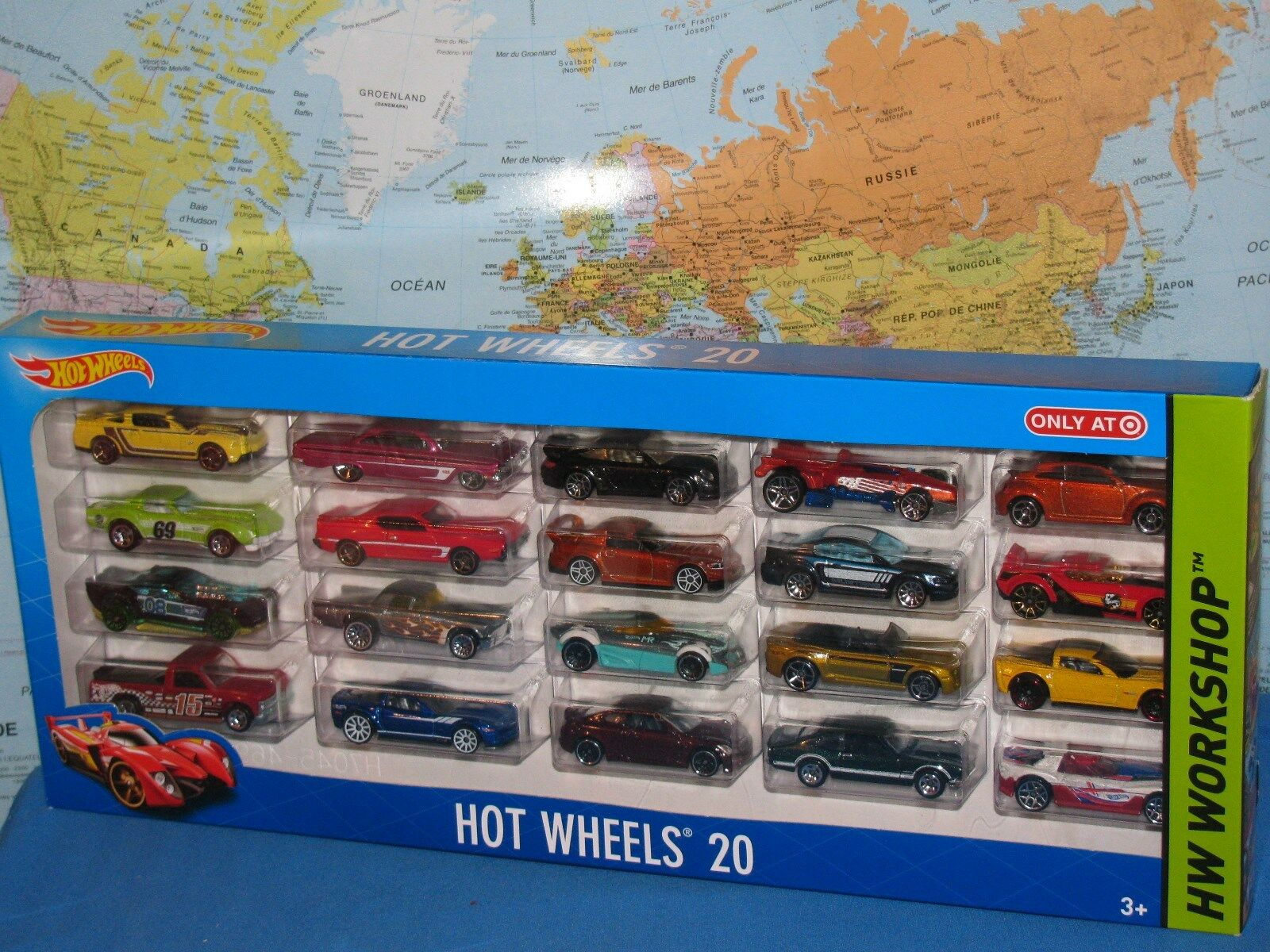 HOT WHEELS HW WORKSHOP SET SET SET OF 20 CARS DIECAST BRAND NEW & VHTF 1c2fca