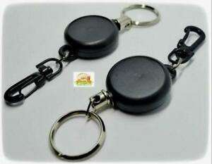 LANYARD-FULLY-RETRACTABLE-RECOIL-PASS-ID-CARD-HOLDER-STEEL-CORD