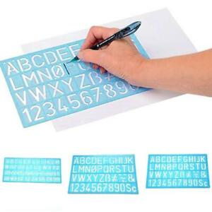 4-Craft-Guides-Lineal-Vorlage-Zahlen-Buchstaben-biegsamen-Alphabet-Schablone