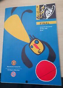 MANCHESTER UNITED V BAYERN MUNICH 1999 CHAMPIONS LEAGUE FINAL PROGRAME