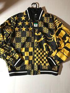 Details about MEN'S NIKE SPORTSWEAR ALLOVER PRINT JACKET AR1632 741 Yellow Black Scorpion