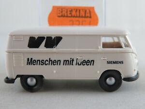 Brekina-3354-VW-Camionnette-t1b-1959-034-SIEMENS-034-en-Blanc-1-87-h0-Nouveau-Neuf-dans-sa-boite